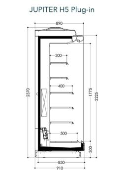Dessin technique de Jupiter H5 Plug-in
