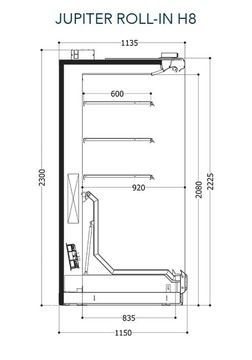 Dessin technique de Roll-in H8 Plug-in