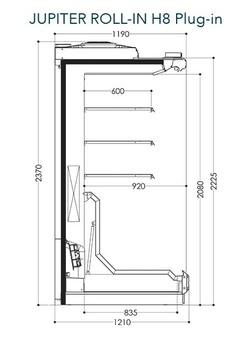 Dessin technique de Jupiter Roll-in H8 Plug-in
