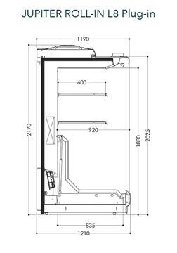 Dessin technique de Jupiter Roll-in L8 Plug-in
