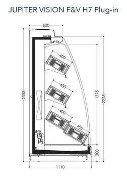 Dessin technique de Jupiter Vision F&V H7 Plug-in