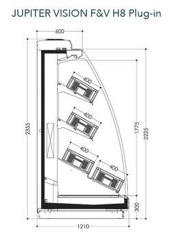 Dessin technique de Jupiter Vision F&V H8 Plug-in