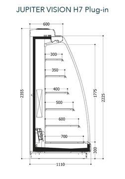 Dessin technique de Jupiter Vision H7 Plug-in